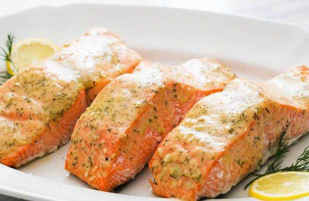 Salmon in Honey Mustard Sauce