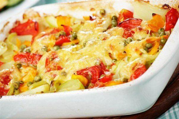 Baked vegetables with tender sauce