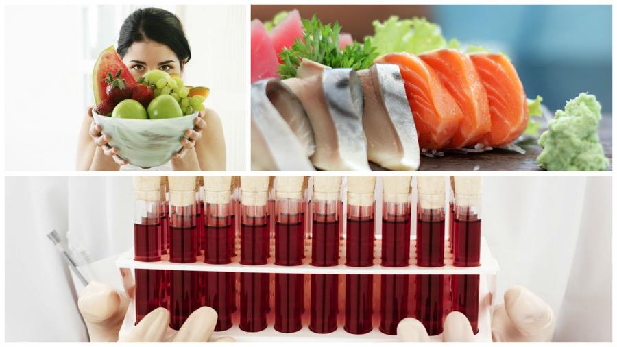 Диета по 1, 2, 3 и 4 группам крови: положительный и отрицательный резус-фактор