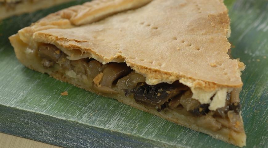 Рецепт веганского пирога с грибами