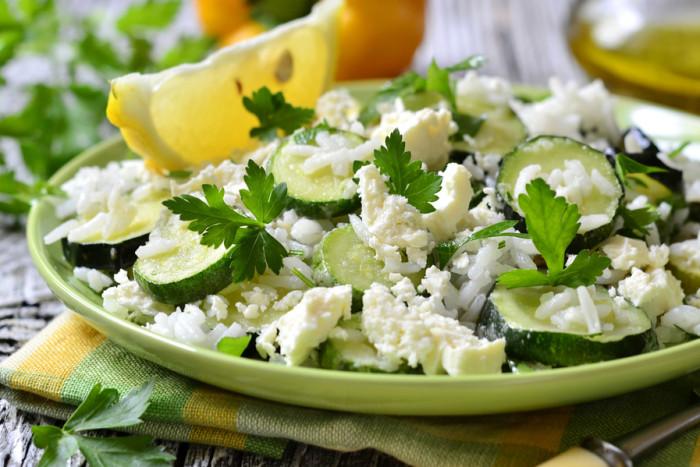 Салат из кабачков со сливочным сыром