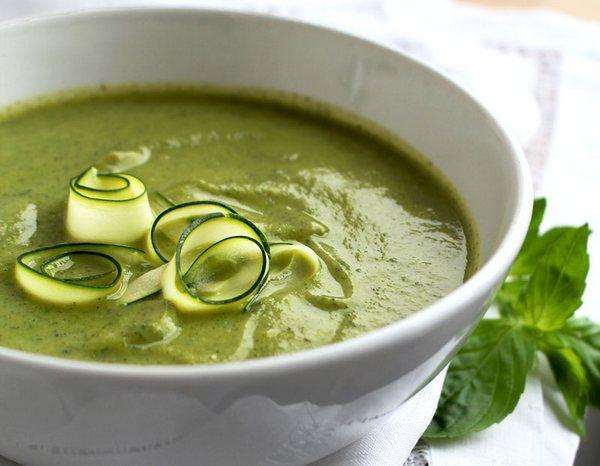Восхитительный вегетарианский суп-велюте из кабачков