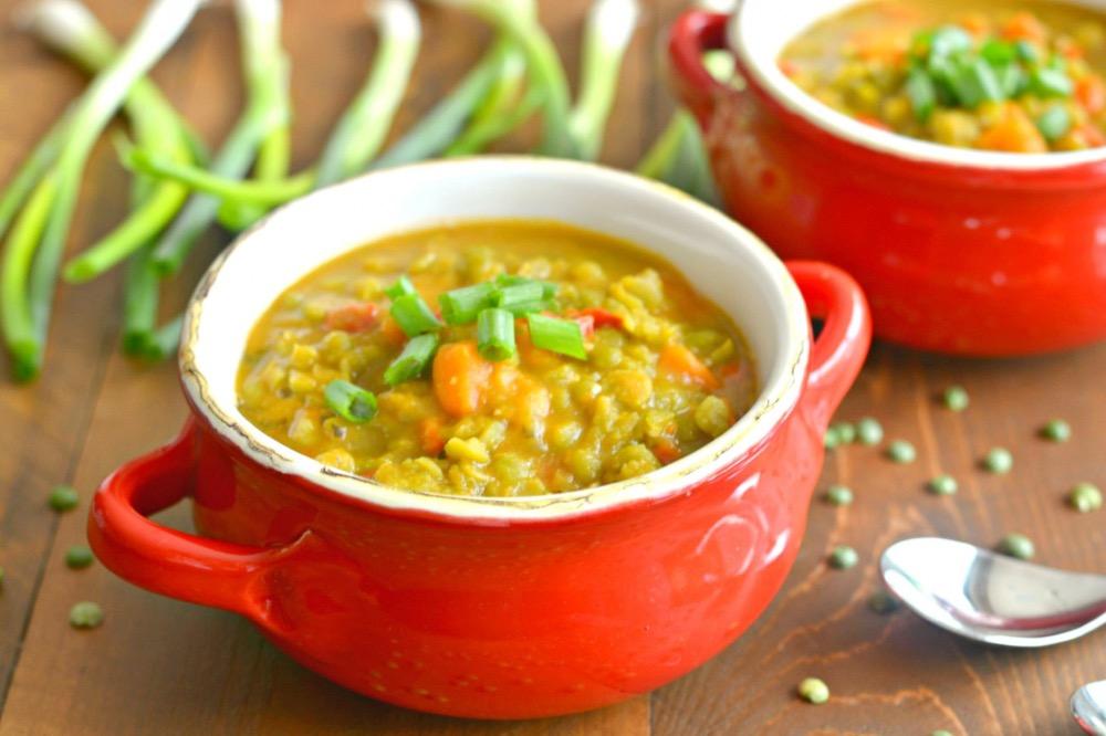 Рецепт вегетарианского горохового супа