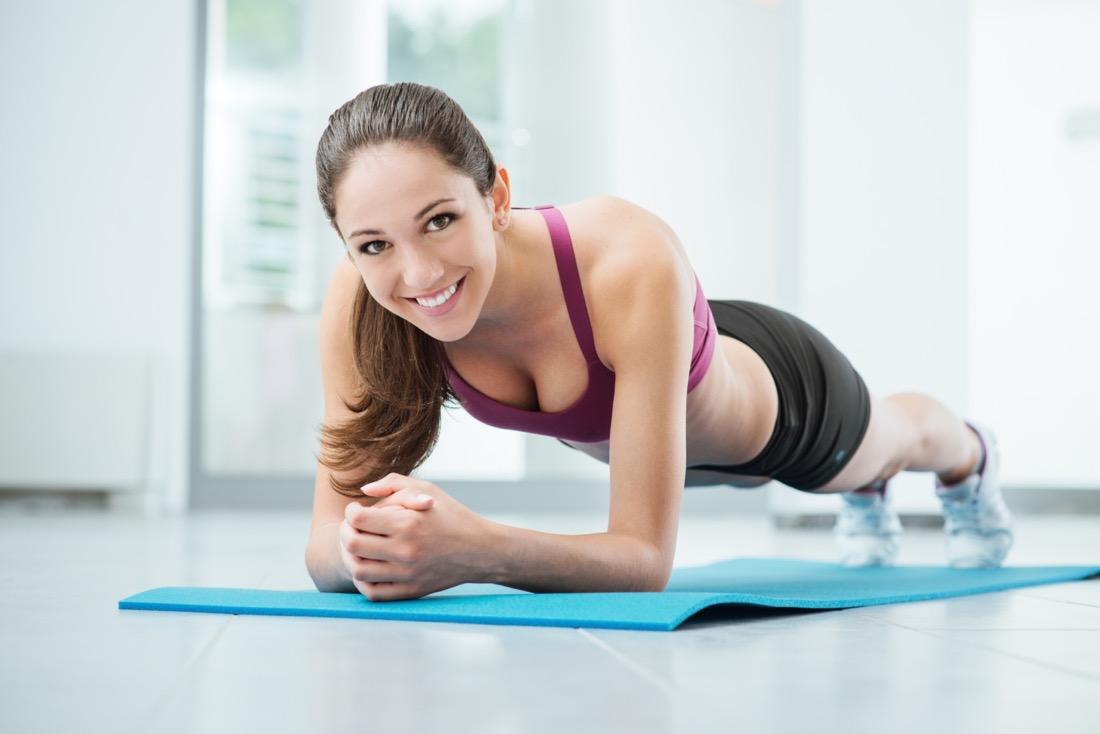 Упражнение «планка» для похудения