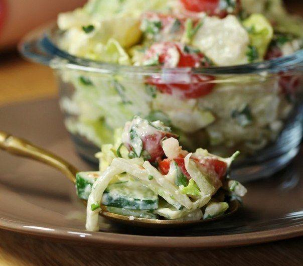 Овощной салат с необычной заправкой