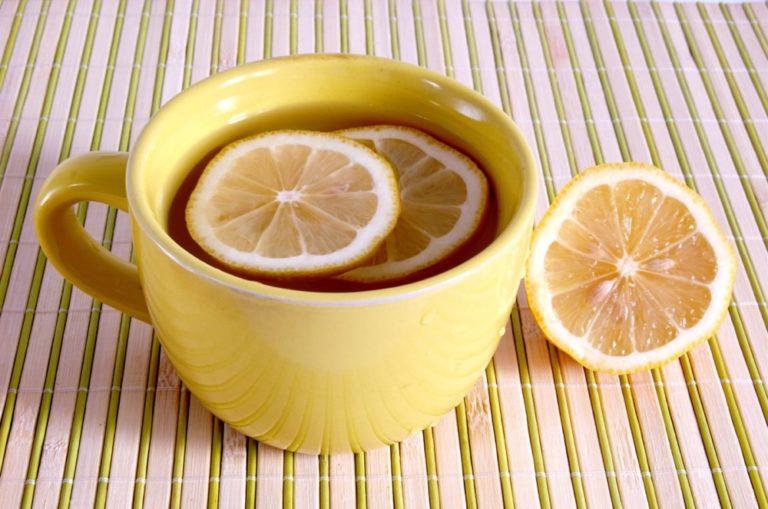 чай с лимоном для печени
