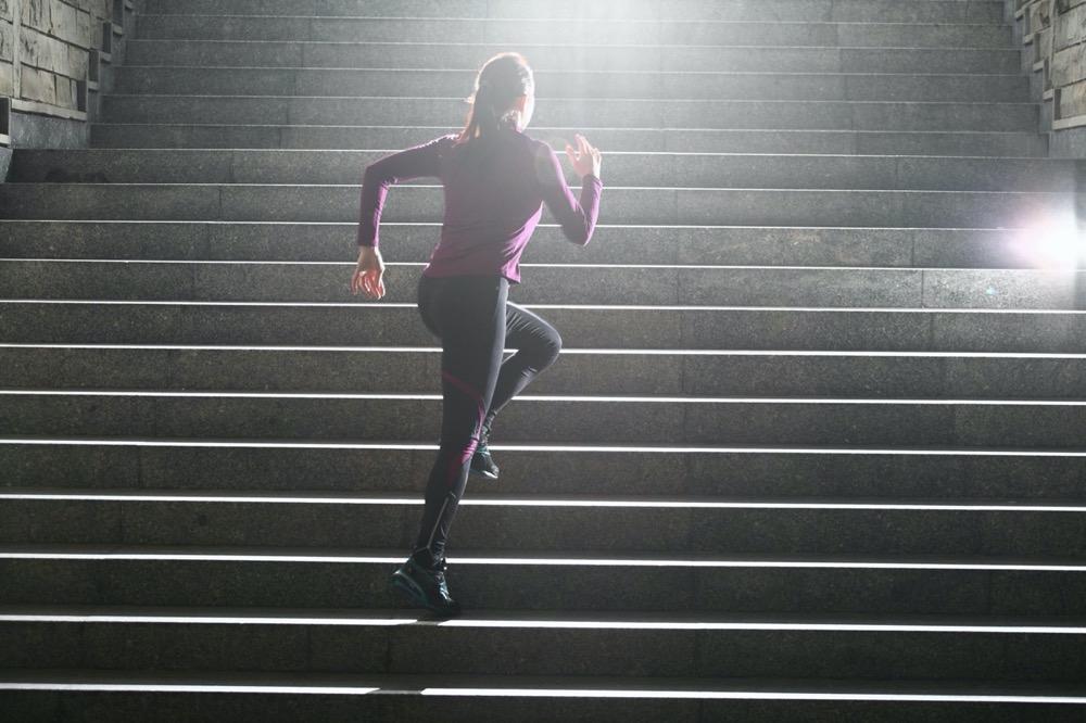 Тренировка на лестнице