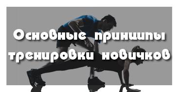 Принципы тренировок для начинающих