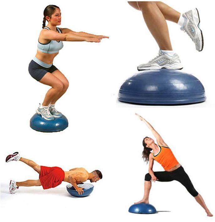 Лучшие упражнения в тренировке Bosu